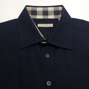 Burberry Brit Long Sleeve Button Down in Navy